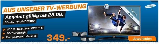 Samsung UE40F6100 aus der Saturn-Werbung