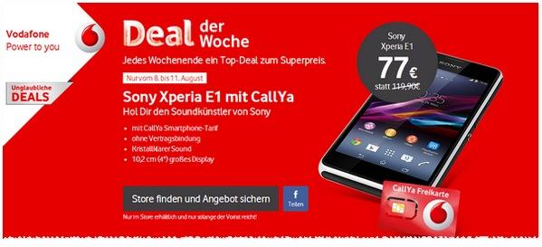 Sony Xperia E1 als Vodafone Deal der Woche