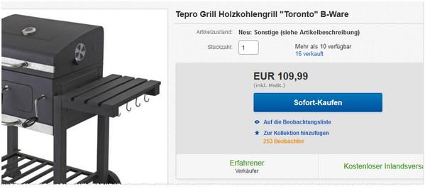 Tepro Toronto 1061 als B-Ware für 109,99 €