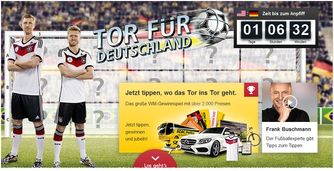 Tor für Deutschland Gewinnspiel