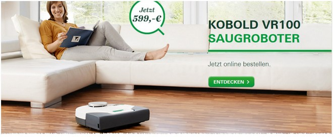 vorwerk kobold vr100 saugroboter 50 g nstiger. Black Bedroom Furniture Sets. Home Design Ideas