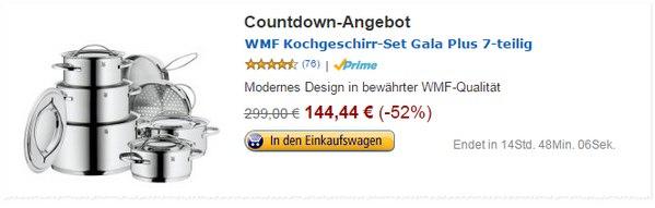WMF Gala plus 7-teilig als Amazon-Angebot