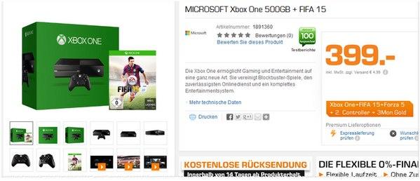 Xbox One mit 500 GB + FIFA 15 + Forza