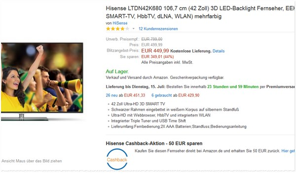 Hisense LTDN42K680