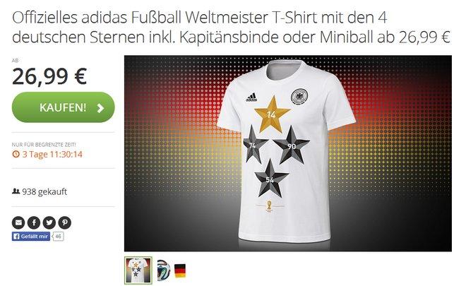 Adidas Weltmeister T-Shirt kaufen