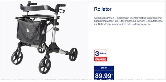 ALDI Rollator Angebot 2015