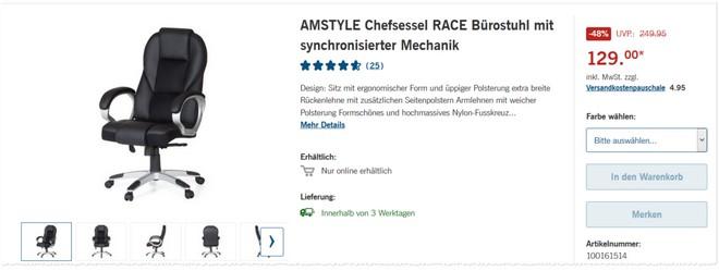 Amstyle Race Bürostuhll