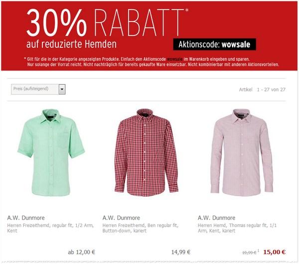 A.W. Dunmore Hemden günstig kaufen