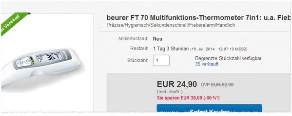 Beurer FT 70 kaufen