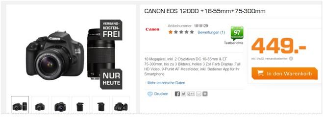 Canon EOS 1200D Objektive