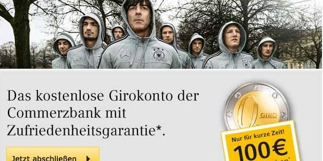 Commerzbank: 100 Euro fürs Girokonto