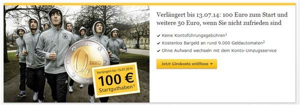 Commerzbank Girokonto mit 100 Euro Startguthaben als Prämie