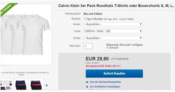 Designers Loft: Calvin Klein Angebot
