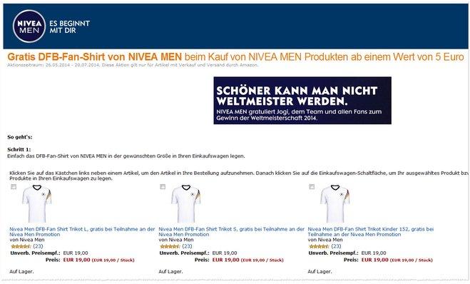 DFB-Fan-Shirt kostenlos 5 Euro