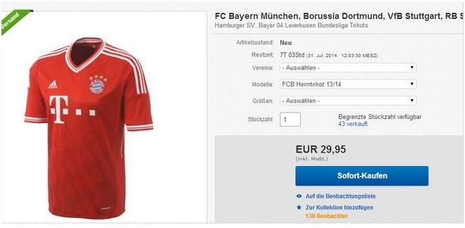 FC Bayern Trikot kaufen