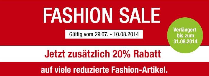 GALERIA Fashion Sale 20 Prozent