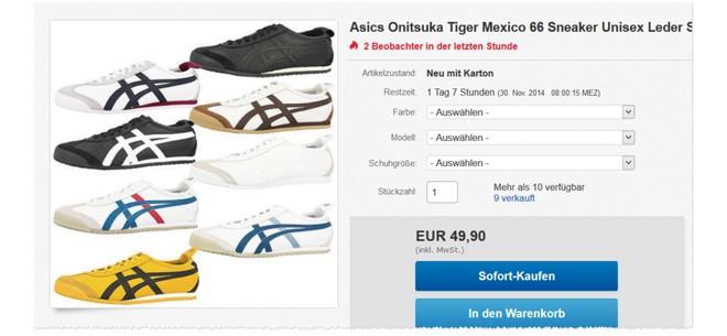 günstige Tiger Mexico 66 Sneaker von Asics