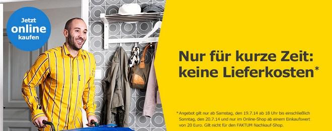 IKEA Online-Shop ohne Versandkosten