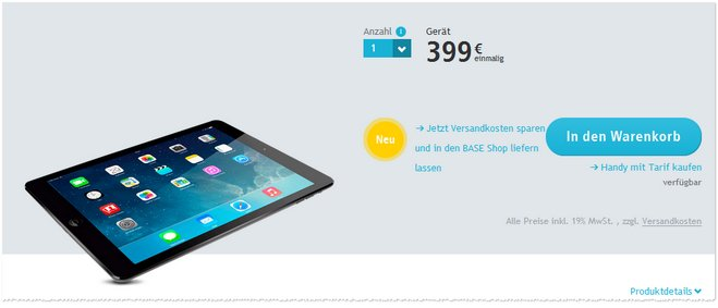 iPad Air Angebot 4G