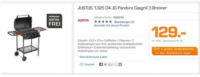 Justus Pandora Abdeckhaube gratis