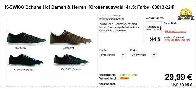 K-Swiss-Sneaker Hof