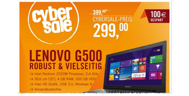 Lenovo G500 mit Windows