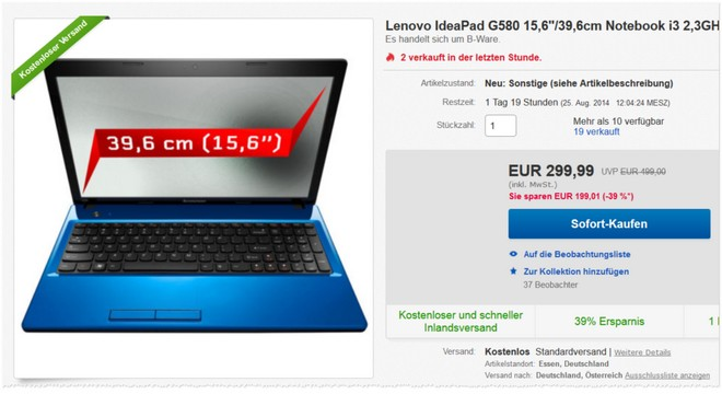 Lenovo G580 gebraucht