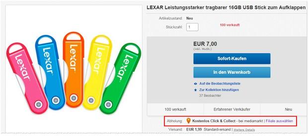 Lexar USB-Stick mit 16 GB Speicher bei Media Markt