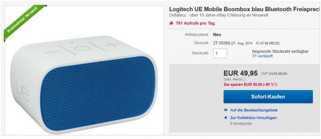 Logitech UE Mobile Boombox Neuware