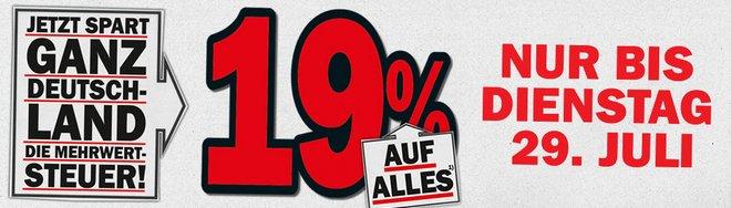 Mediamarkt MwSt-Aktion 19 Prozent