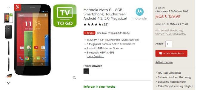 Motorola Moto G Preis