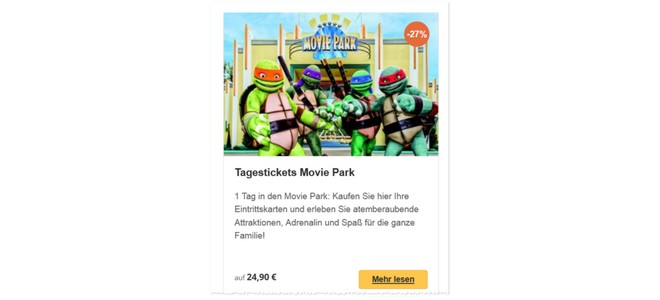Movie Park 2-für-1-Ticket