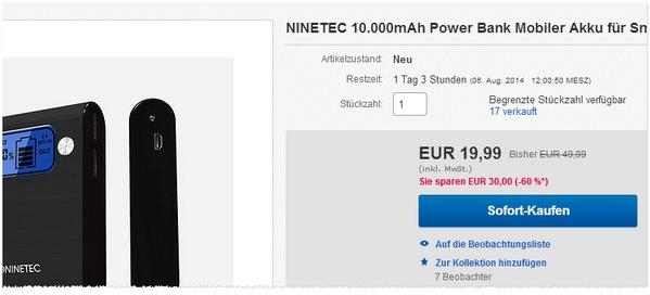 Ninetec Power Bank NT 565 kaufen