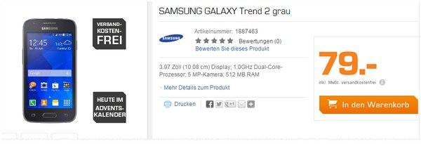 Samsung Galaxy Trend 2 ohne Vertrag