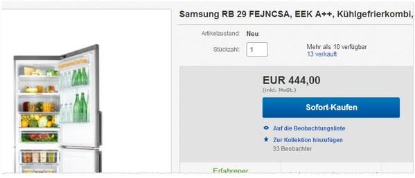 Samsung RB 29 Angebot