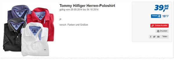 Tommy Hilfiger Polo-Shirt bei Real