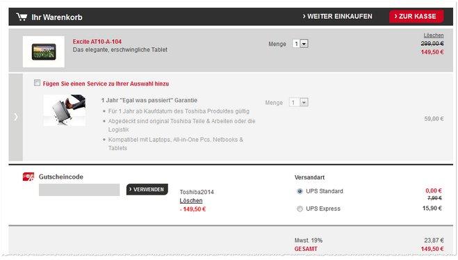 Toshiba Ausverkauf Online Shop