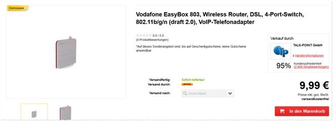 Vodafone Easybox 802 Demoware