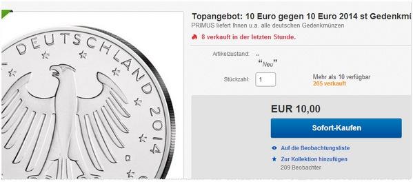 10 € Gedenkmünze kaufen