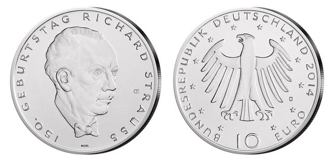 10 Euro Gedenkmünze Richard Strauss