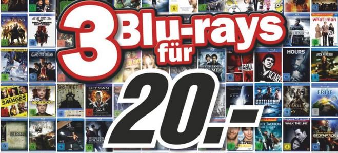 3 Blu-rays 20 Euro