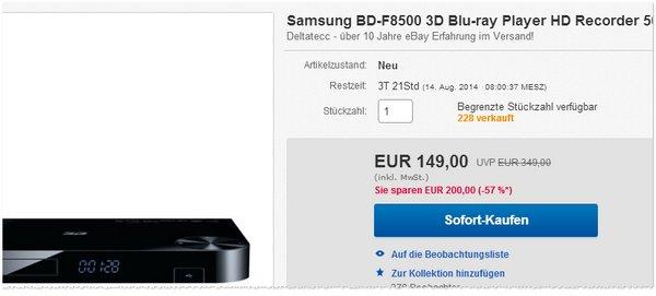 Samsung BD-F8500 kaufen