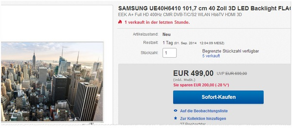 Samsung UE40H6410 kaufen