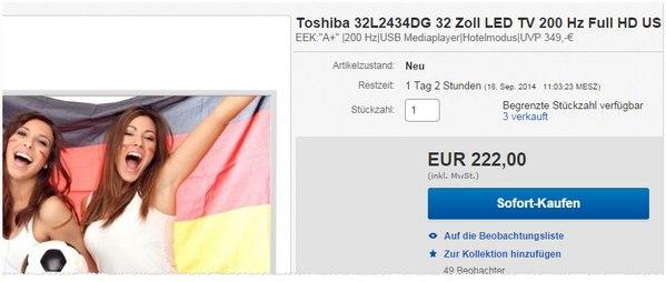 Toshiba 32L2434DG bei Alternate