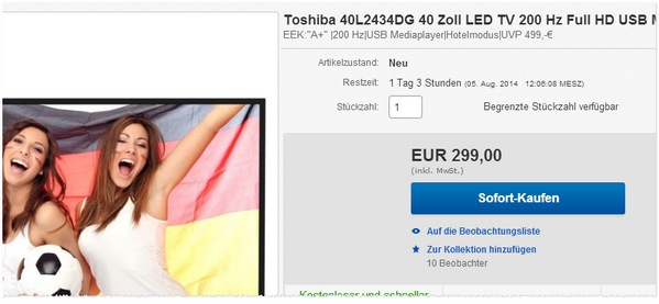 Toshiba 40L2434DG kaufen