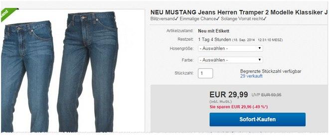 Angebot für Mustang Jeans Tramper
