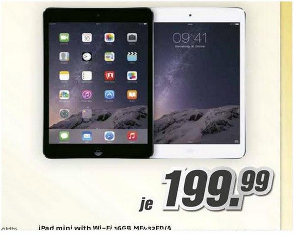 Apple iPad mini aus der Medimax-Werbung für 199,99 €