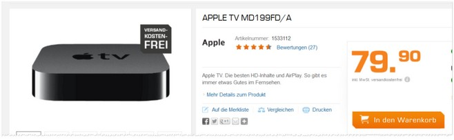 Apple TV 3G (MD199FD/A)