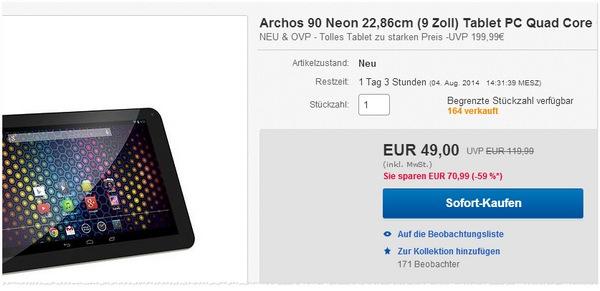 Archos 90 Neon kaufen