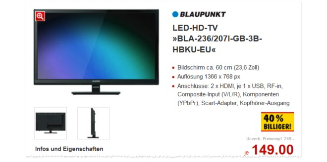 Blaupunkt BLA-236/207I-GB-3B-HBKU-EU